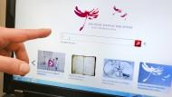 Pocht auf ihr Vorschau-Recht: die Startseite der Deutschen Digitalen Bibliothek