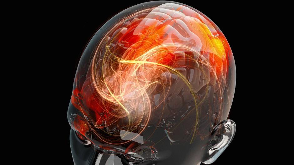 Geht da noch was nach dem Ende? So kräftig wie in der Simulation feuern die Hirnzellen nur, wenn der Mensch lebt.
