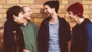 Christopher Annen, Malte Huck, Severin Kantereit und Henning May (v.l.n.r.), Musiker der deutschen Band AnnenMayKantereit