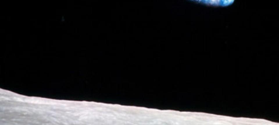 Die Erde, vor 38 Jahren vom Mond aus aufgenommen