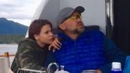 """Das Escort-Mädchen Nastja Rybka mit dem Oligarchen Oleg Deripaska auf dessen Yacht """"Elden"""""""