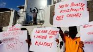 Gegen die Todesstrafe: Demonstranten in Colombo