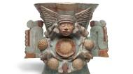 Auch für die Azteken war alles voller Götter – hier Chalchiuhtlicue, Gemahlin des Regengottes und zuständig für alles Süßwasser.