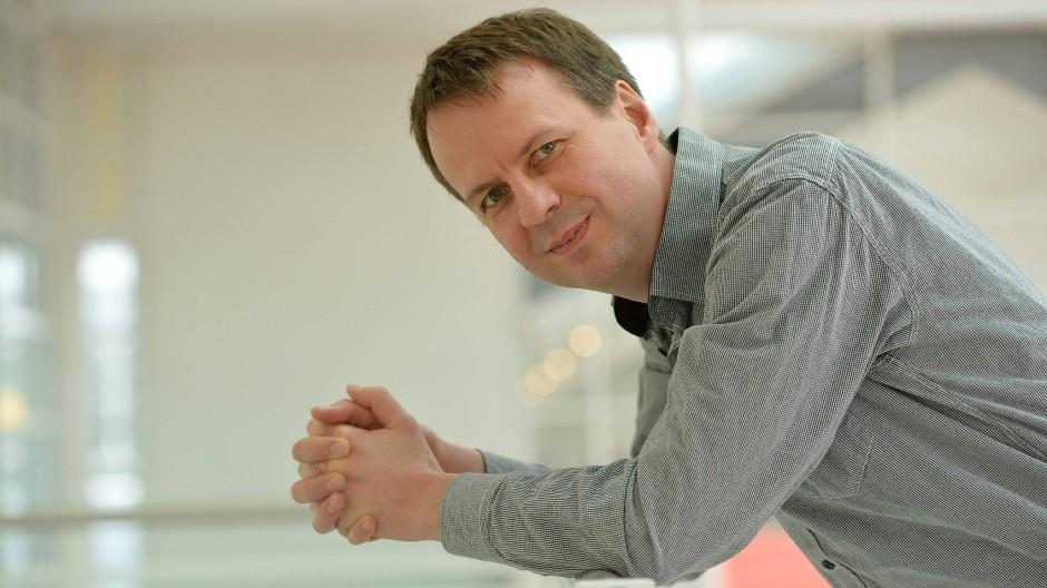 Seine Madeleines heißen Schinkennudeln: Bov Bjerg auf der Frankfurter Buchmesse.