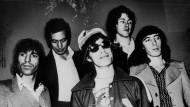 Die Rolling Stones im Oktober 1973 in Dänemark