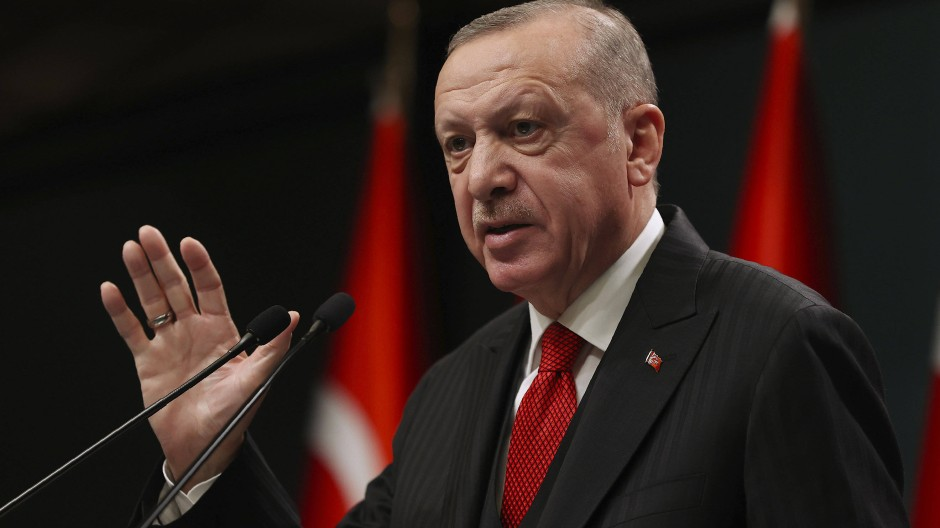 Der türkische Präsident Recep Tayyip Erdogan Ende November nach einer Kabinettsitzung in Ankara