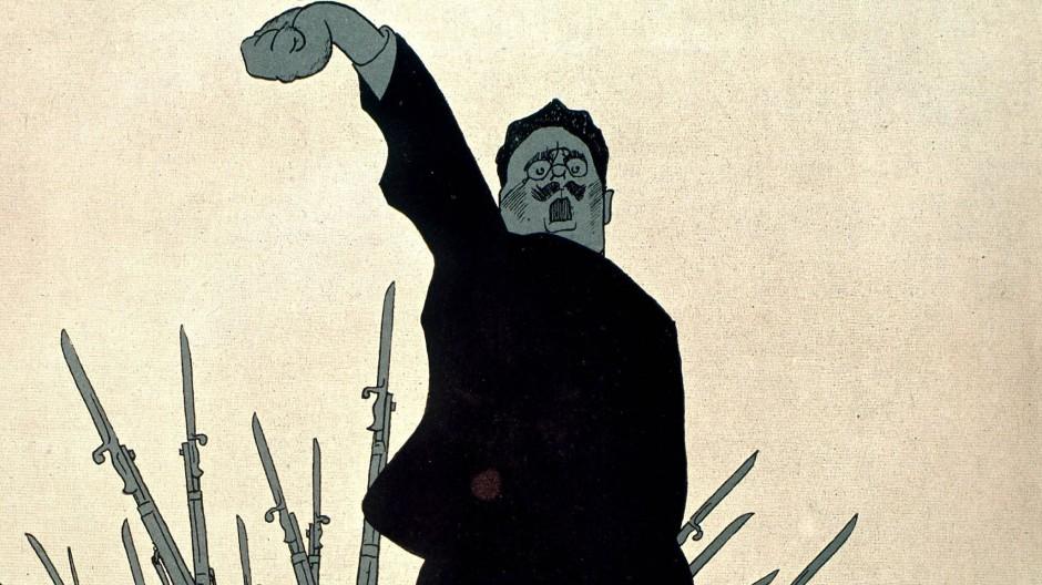 Karl Liebknecht, gezeichnet von Olav Gulbransson