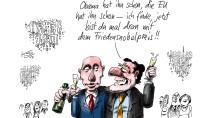 Die Gewinner-Karikatur von Klaus Stuttmann