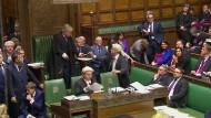 Wie entscheiden sich die britischen Parlamentarier? Das Videostandbild zeigt die Verlesung des Votums im britischen Unterhaus vom vergangenen Mittwoch. Die erste Hürde hat der Brexit genommen.