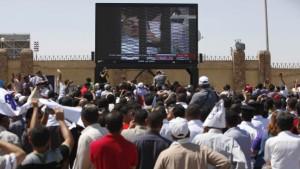 Mubarak im Käfig