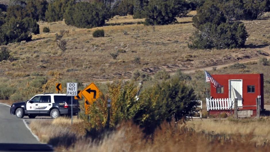 Der Schauplatz, südlich von Santa Fe in New Mexico