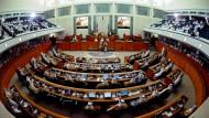 Ein Saal voller DNA-Spuren: das kuweitische Parlament