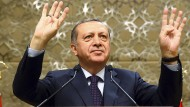 Der türkische Präsident bei einer Pressekonferenz am Mittwoch in Ankara