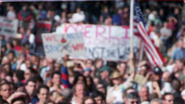 Hollywood-Stars demonstrierten gegen Irak-Krieg