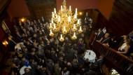 Mitherausgeber Jürgen Kaube eröffnet den Buchmessenempfang der F.A.Z. in der Villa Bonn