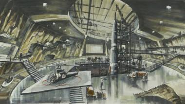 """Heute nennt man so etwas """"Themenpark"""": Entwurf von Ken Adam für die Kommandozentrale Blofelds in """"Man lebt nur zweimal"""" (1967)"""