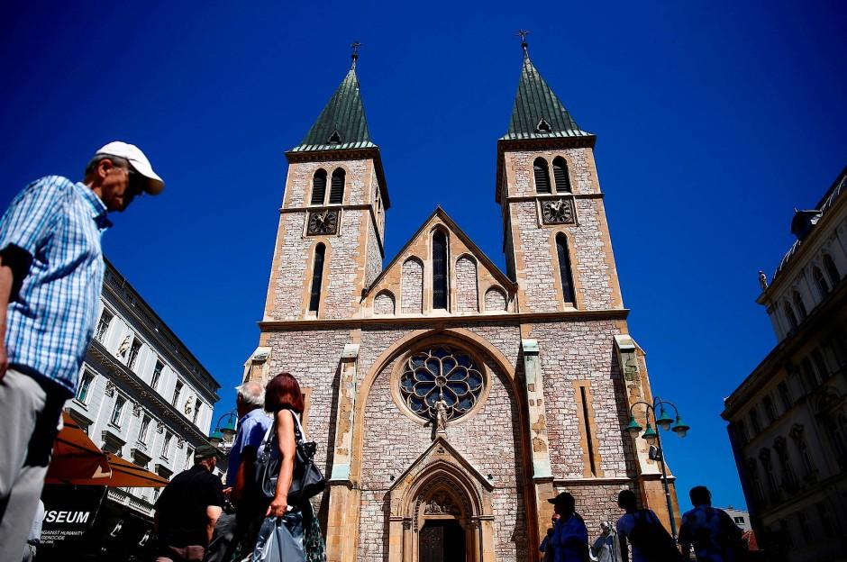 Die Herz-Jesu-Kathedrale in Sarajevo