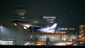 Bulgaria Air aircraft takes off from Tegel airport in Berlin