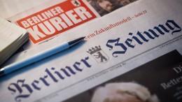 """Unternehmerpaar kauft """"Berliner Zeitung"""""""