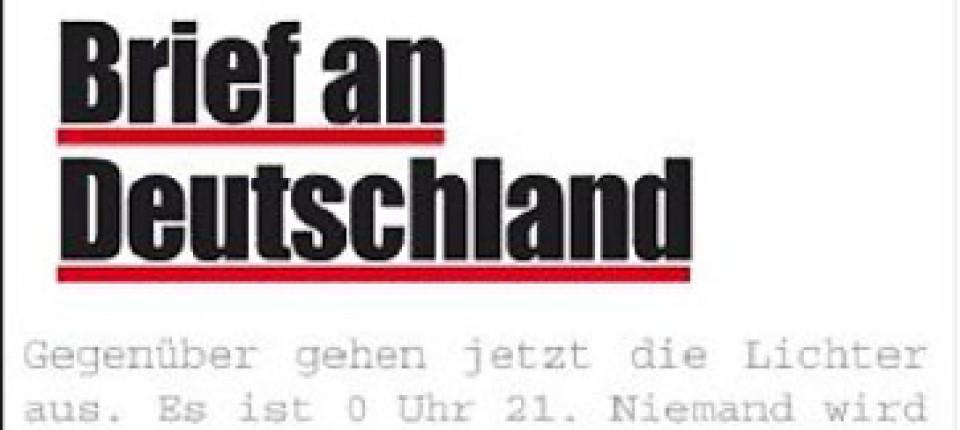Franz Josef Wagner Brief An Deutschland Vom Tastenden Leben