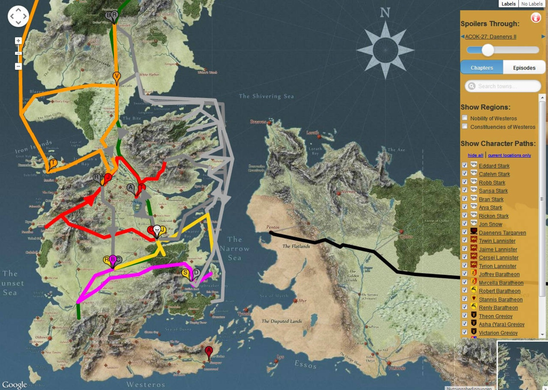 Westeros Karte Interaktiv.Fan Projekte Interaktive Game Of Thrones Karten