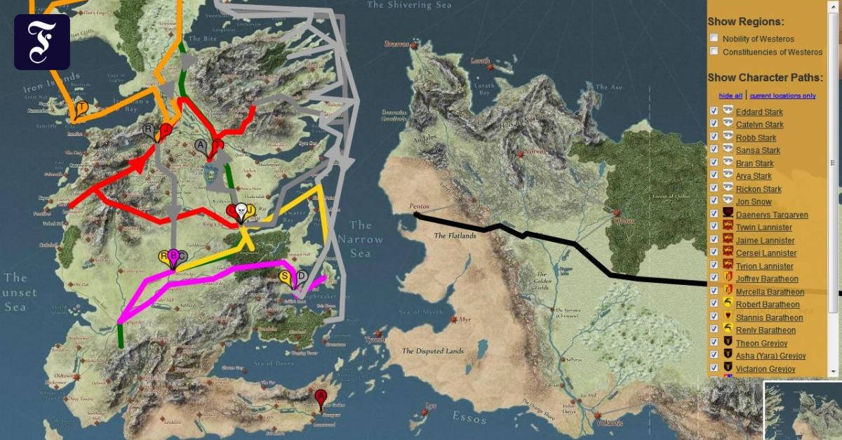 Westeros Karte Hd.Fan Projekte Interaktive Game Of Thrones Karten