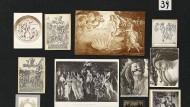 """Botticelli stand für Warburg im Mittelpunkt: Die Tafel 39 aus dem """"Bilderatlas Mnemosyne"""" mit Hauptwerken der Renaissance"""