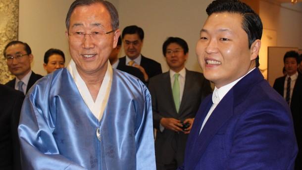 Ban Ki Moon meets Psy