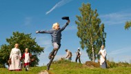 """Zwischen dem Tischlerschuppen und der freien Natur des Smalands gedeihen die besten Geschichten: Michel auf der Bühne von """"Astrid Lindgrens Värld"""""""