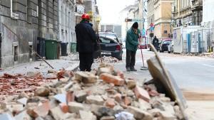 Verletzte und beschädigte Kathedrale
