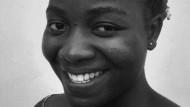 Akouavi Mathilde Adjahe, geboren 1990, studiert im 3. Jahr Germanistik an der Université d'Abomey-Calavi in Cotonou, Benin.