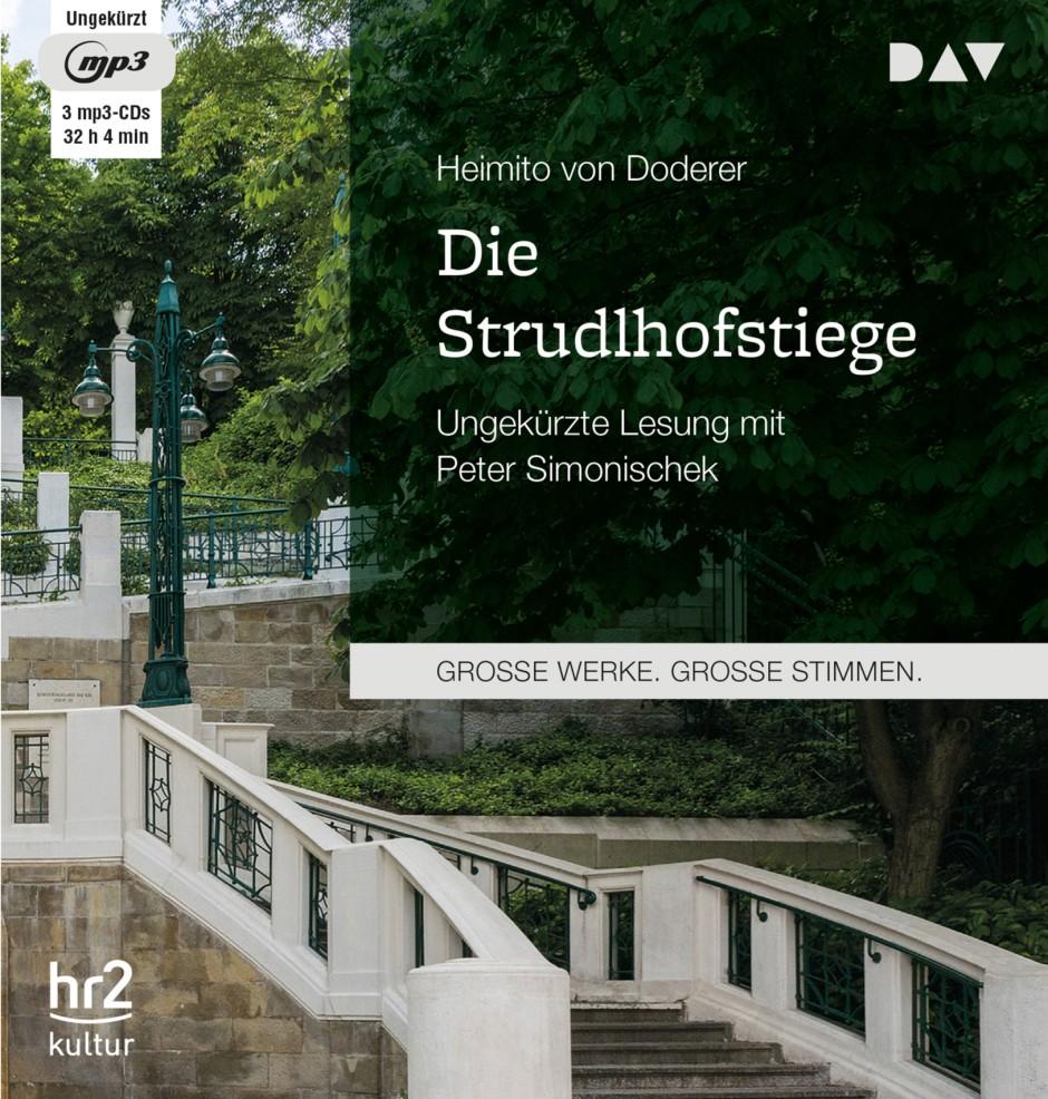 """Heimito von Doderer: """"Die Strudlhofstiege"""". Ungekürzte Lesung von Peter Simonischek. Der Audio Verlag, Berlin 2017"""