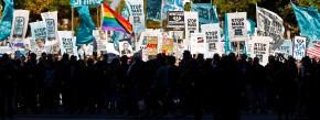 Gegen Massenüberwachung: Protestzug in Washington am 26. Oktober