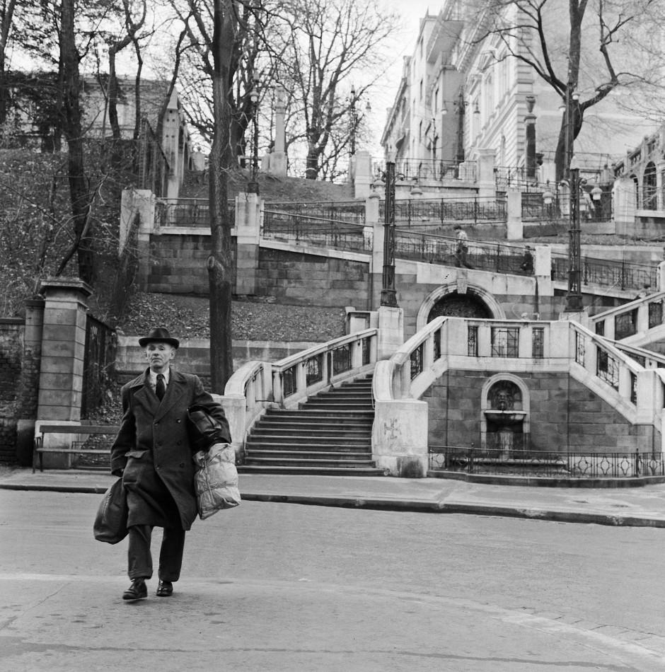 Eine Aufnahme der Wiener Strudlhofstiege aus dem Jahre 1961.
