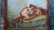 Wandmalerei aus der Casa del Centenario in Pompeji.