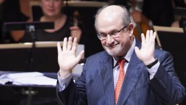 Salman Rushdie bei der Andersen-Preisverleihung am vergangenen Sonntag im dänischen Odense