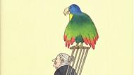 Félicité und ihr Papagei auf dem Umschlag einer Erzählungssammlung Flauberts im Verlag Haffmans