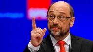 Würde gerne streiten, kann es aber nicht: Martin Schulz fehlt ein Sparringspartner.