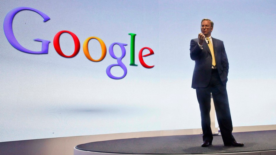 As if interests of his business stand for the entire Web and Internet: Google's Executive Chairman Eric Schmidt