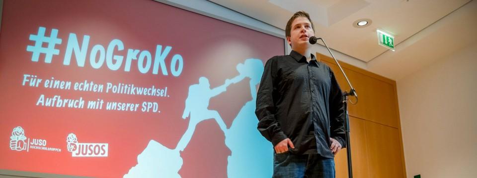 Gar nicht so harmlos: Die #nogroko-Kampagne der Jusos.
