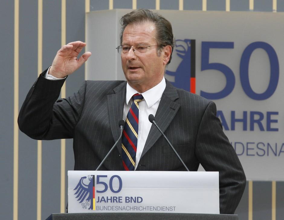 Klaus Kinkel, 1979 BND-Chef, beim Festakt zum 50-jährigen Bestehen des Nachrichtendienstes im Mai 2006