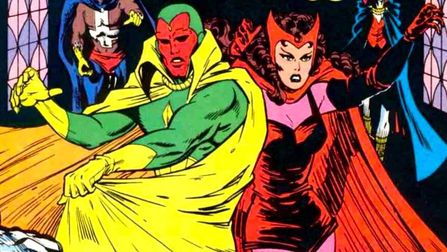 Seit' an Seit': The Vision und The Scarlet Witch auf dem Cover eines Marvel-Comics