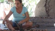 Kokosnüsse verarbeiten
