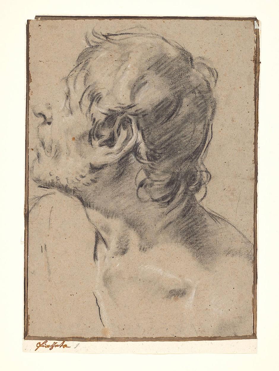"""Auffällig kantige Ecke als Erkennungszeichen des Künstlers: Giambattista Piazzettas """"Apostel mit entblößter Schulter""""."""