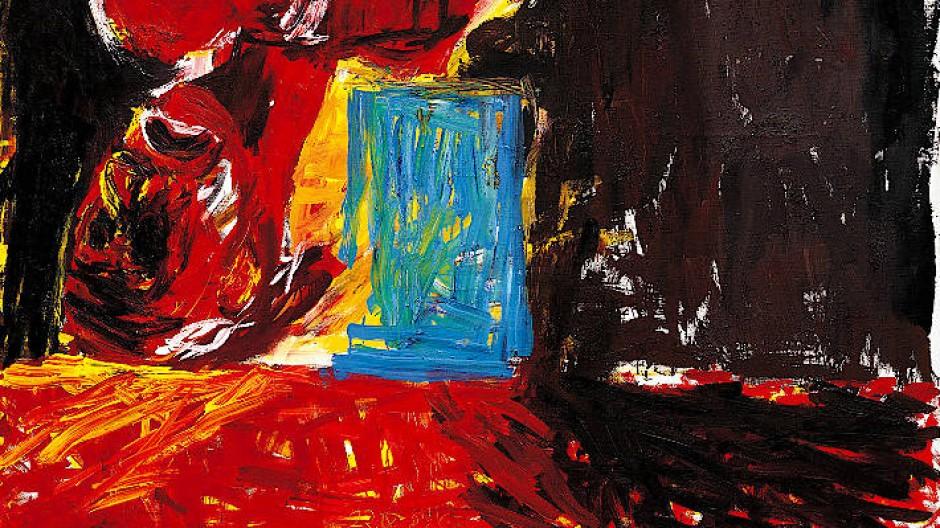 """Georg Baselitz, """"Das letzte Selbstbildnis I"""", 1982, Öl auf Leinwand, 250 mal 200 Zentimeter, Taxe 4,7-6 Mio. Pfund bei Phillips."""