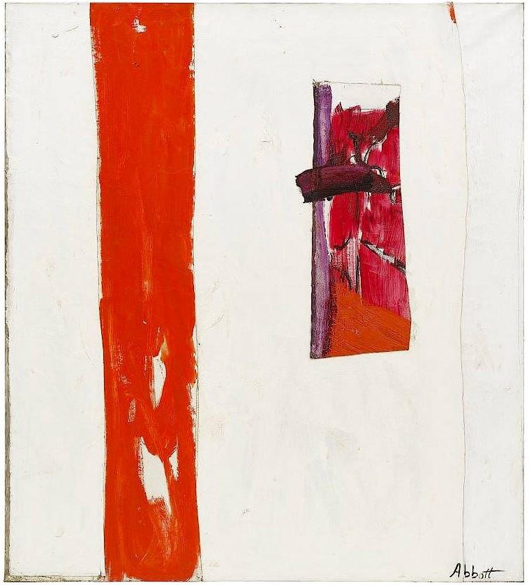 Mary Abott, Self Portrait Abstract, 1957, Öl und Kollage auf Leinwand, 193 x 172.5 cm