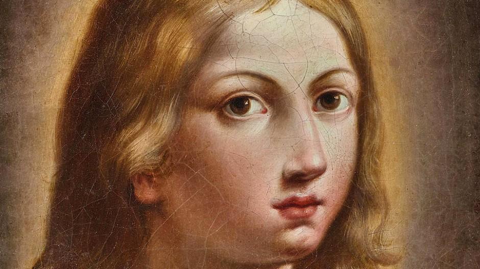 """Elisabetta Sirani, """"Salvator Mundi"""", Öl auf Leinwand, 36 x 28 cm, Taxe 15.000/20.000 Euro."""