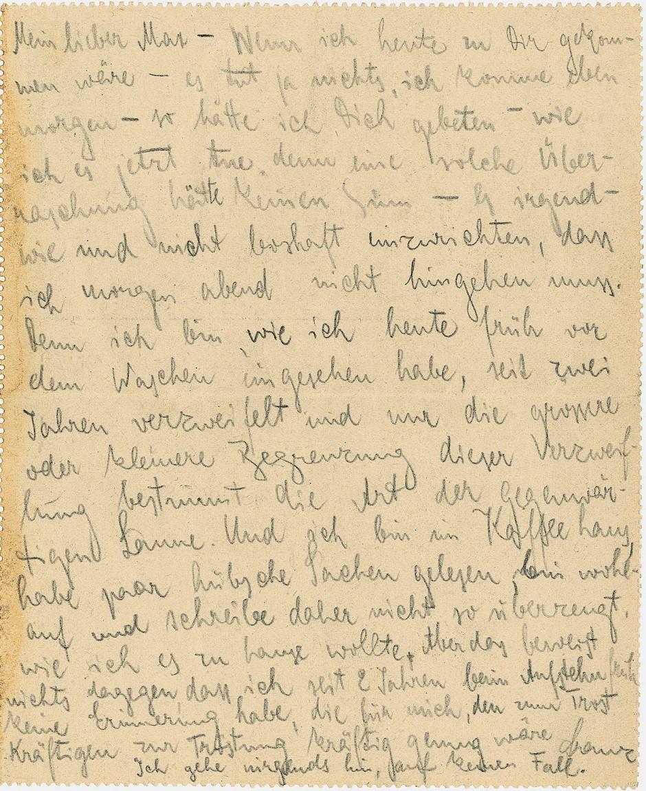 Faltbrief aus der Hand von Franz Kafka - Taxe 20.000 Euro