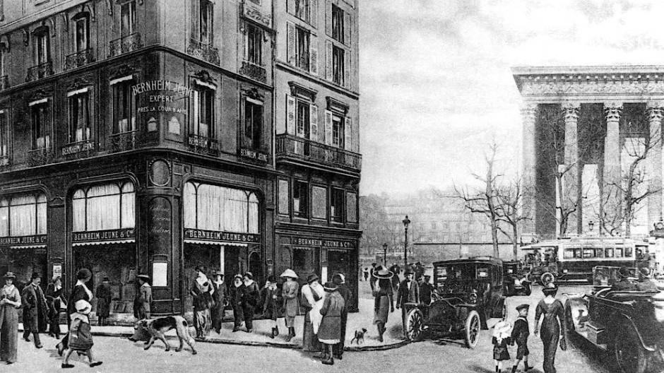 Das Haupthaus der Galere Bernheim-Jeune, 25 Boulevard de la Madeleine, Paris im Jahre 1910.