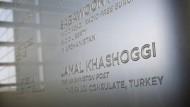 """Gedenken: Im """"Newseum"""" in Washington sind die Namen ermordeter Journalisten verzeichnet. Jamal Khashoggi zählt zu ihnen."""